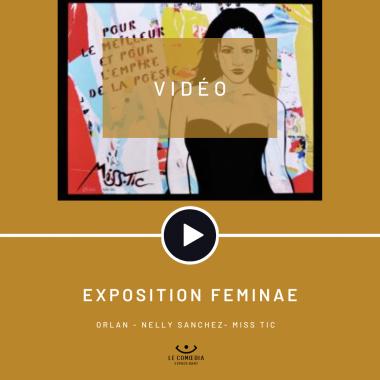 Vidéo : les artistes Orlan, Nelly Sanchez et Miss Tic au Comœdia espace d'art
