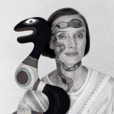 Photo - Portrait - Noir et blanc - Niki de Saint Phalle