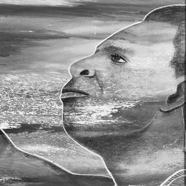 Photo - Portrait - Noir et blanc - Peinture autoportrait - Almighty God