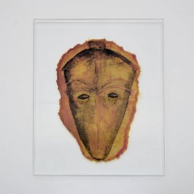 Dessin - Jean Bernard Susperregui - Masque - papier sulfurisé cuit