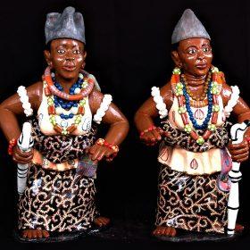 Sculpture - Euloge Glélé - Femmes africaines - Tenues traditionnelles