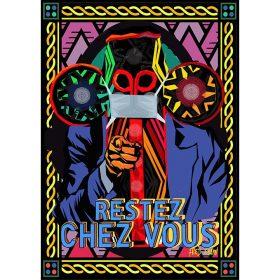 Dessin digital - Fred Ebami - Personnage masqué -