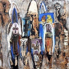 Peinture - Soly Cissé - Personnages - cheval
