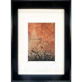 Gravure - Thomas Godin - encadrée - rouge, noir