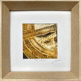 Gravure - Thomas Godin - encadrée - dorée - masque