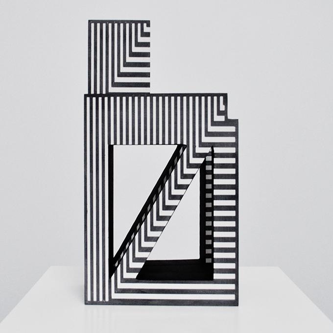 Sculpture - Vincent de Monpezat - Noir et blanc
