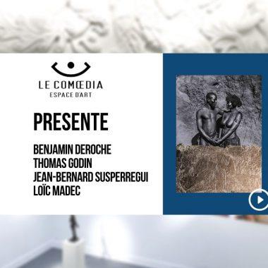 Vidéo : les artistes Benjamin Deroche, Thomas Godin, Jean-Bernard Susperregui et Loïc Madec, exposition Visions d'Afrique