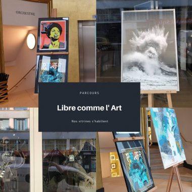 Brest. « Libre comme l'art », un parcours d'œuvres en vitrine