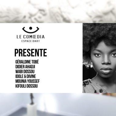 Vidéo : les artistes Géraldine Tobé, Didier Ahadji, Wabi Dossou, Idole & Divine, Mounia Youssef et Kifouli Dossou, exposition Visions d'Afrique
