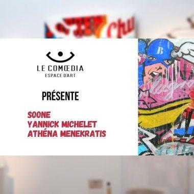 Vidéo : Découvrez les œuvres de Soone, Yannick Michelet et Athéna Menekratis dans le cadre de l'exposition-vente New Pop
